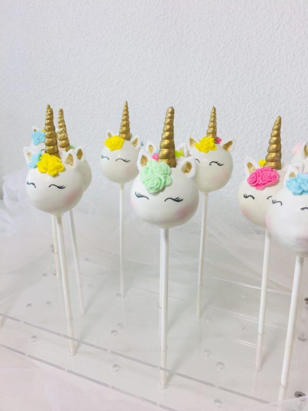 Unicorn Cake Pops Sweet Celebration
