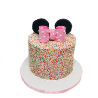 sprinkle micky mouse cake